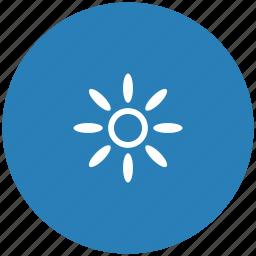 blue, brightness, color, printer, round icon