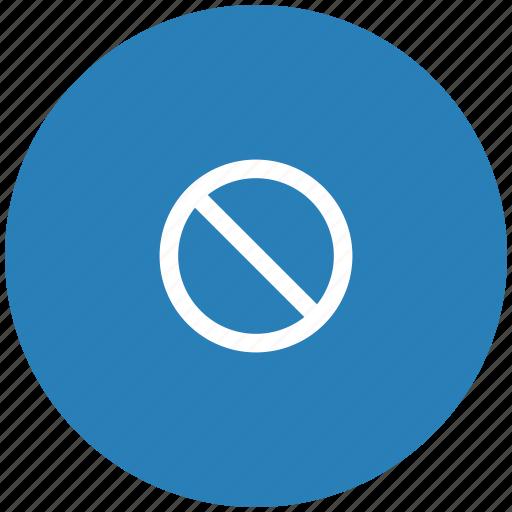 ban, blue, cancel, cursor, round, stop icon
