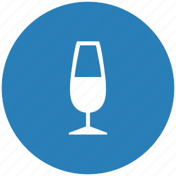 alcohol, blue, champagne, drink, round icon