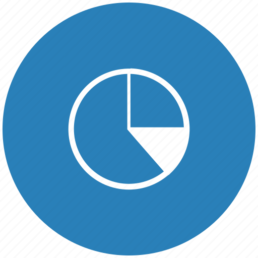 blue, chart, data, diagram, report, round icon
