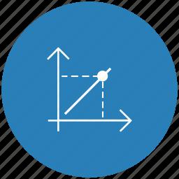 blue, chart, economics, function, math, round icon