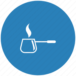 blue, coffee, dishes, hot, kitchen, round icon