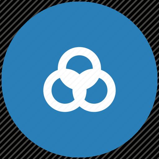 blue, color, ink, pallete, printer, rgb, round icon