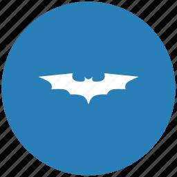bat, batman, blue, comics, hero, round icon