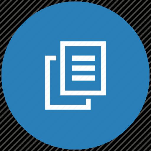 blue, copy, file, printer, round, xerox icon