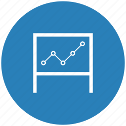 blue, board, desc, learn, round, seo, table icon