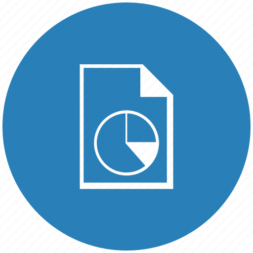 blue, diagram, doc, document, file, round icon