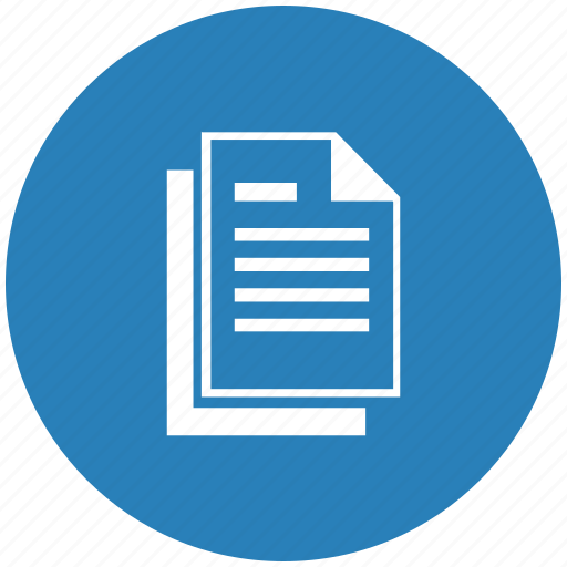 blue, copy, doc, document, file, round icon