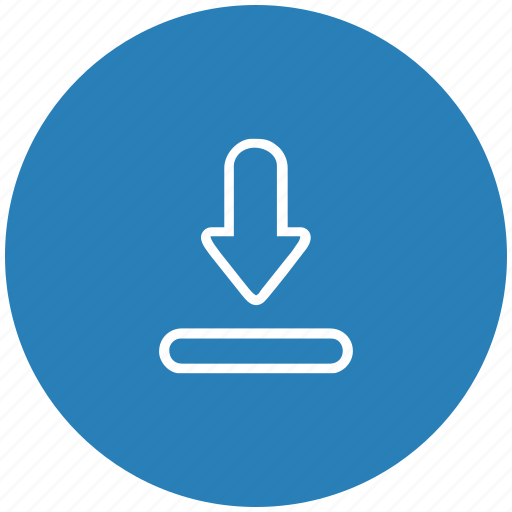 blue, download, file, round, transfer icon