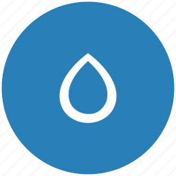 blue, color, drop, ink, printer, round icon