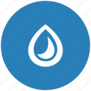 blue, color, drop, ink, printing, round icon