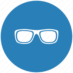 blue, eye, glasses, round, style, vision icon