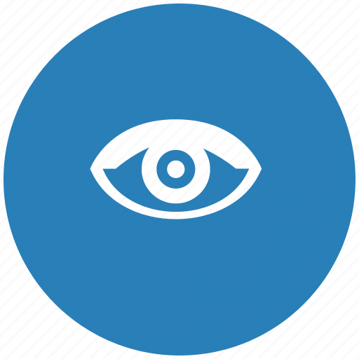 blue, eye, round, view, vision icon