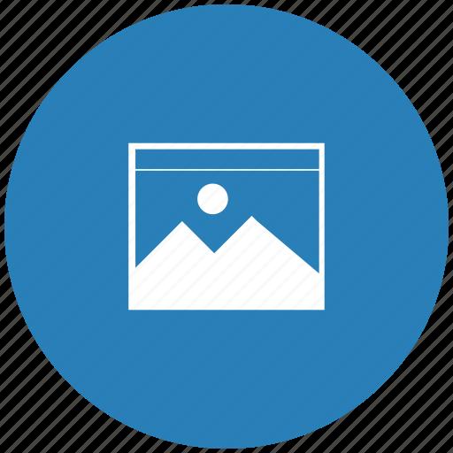 blue, file, image, picture, round icon