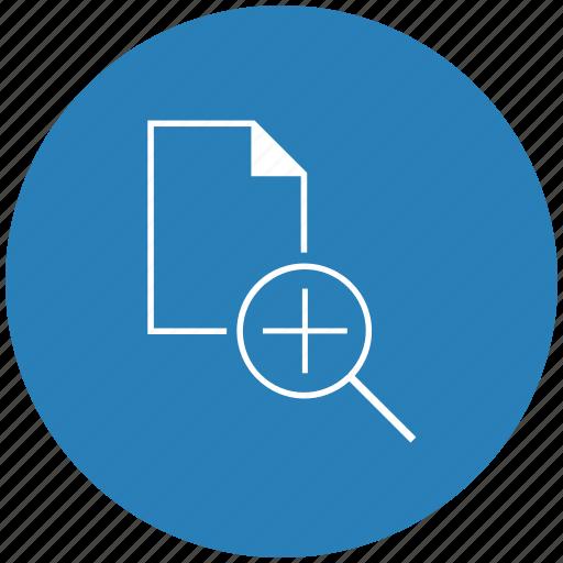 blue, document, file, plus, round, scale icon