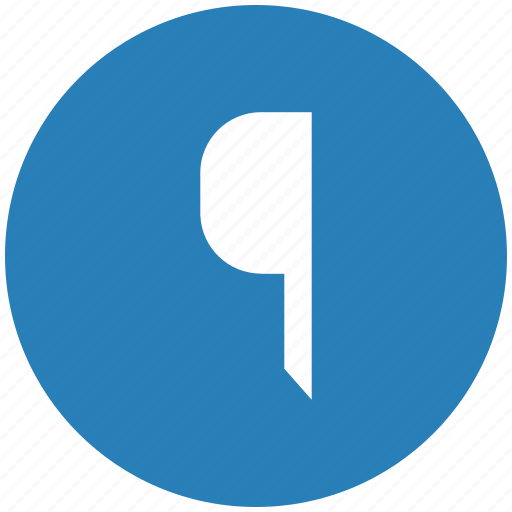 blue, edit, flag, pointer, round, text icon