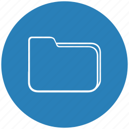 blue, document, file, folder, round icon