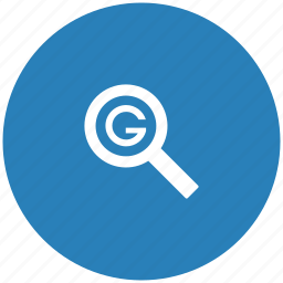 blue, google, optimization, round, search, seo icon