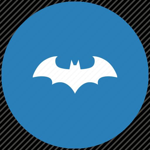 bat, batman, blue, hero, round icon