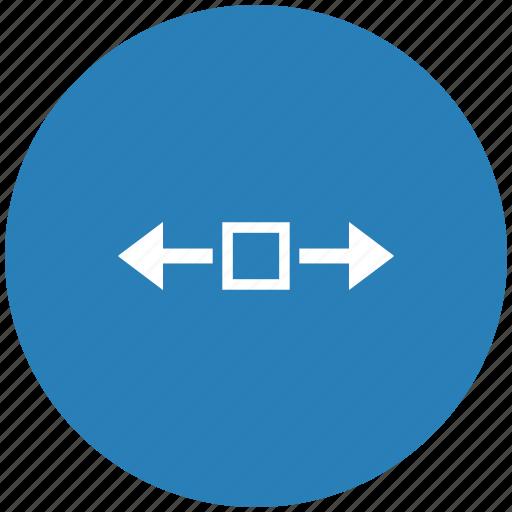 blue, horizontal, round, scroll, window icon