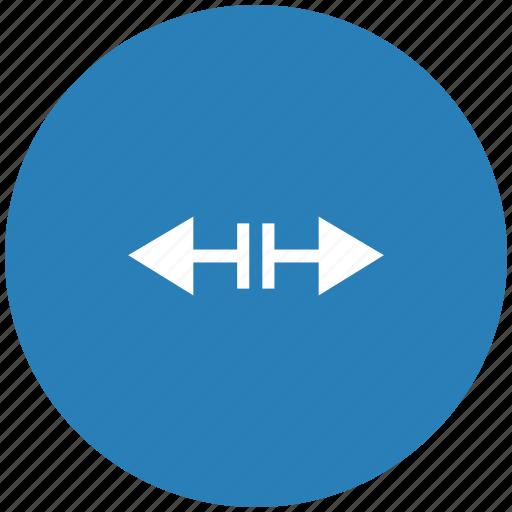 blue, border, cursor, horizontal, round, separate icon