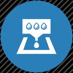 blue, drop, ink, pallette, printer, round icon