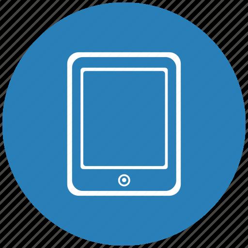 blue, ebook, ipad, reading, round icon