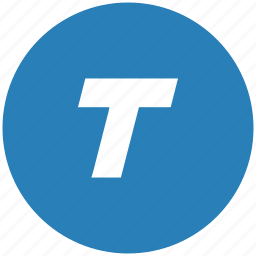 blue, format, italic, round, text icon