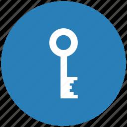 blue, code, key, password, pin, round icon