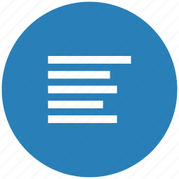 align, blue, format, left, paragraph, round, text icon