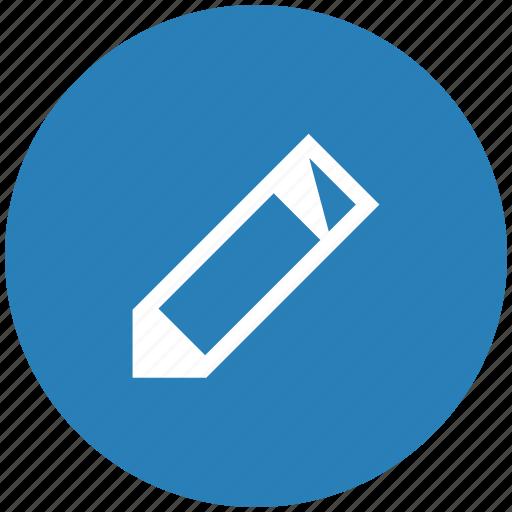 blue, edit, instrument, pen, pencil, round, tool icon