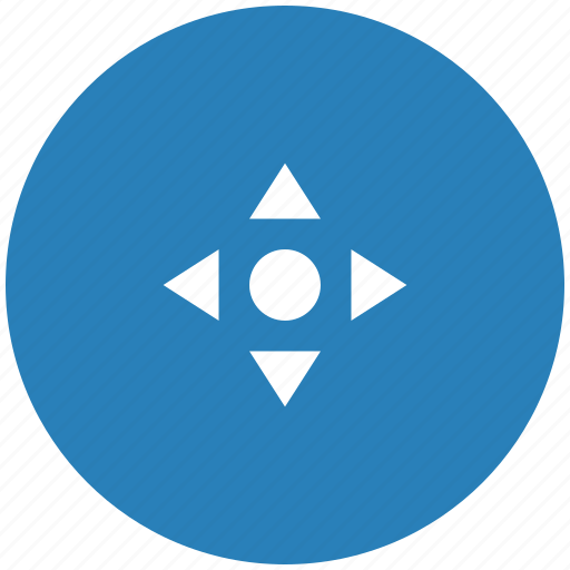blue, cursor, navigation, pointer, position, round icon