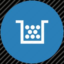 blue, cartridge, color, printer, round icon