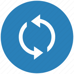 blue, loading, process, reload, round icon