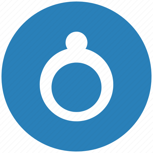 blue, jewelry, rich, ring, round icon