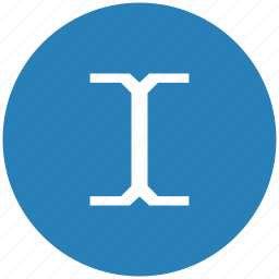 blue, cursor, edit, round, space, text icon