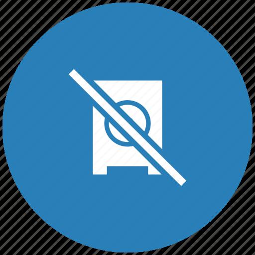 ban, blue, music, mute, round, speaker, stop icon