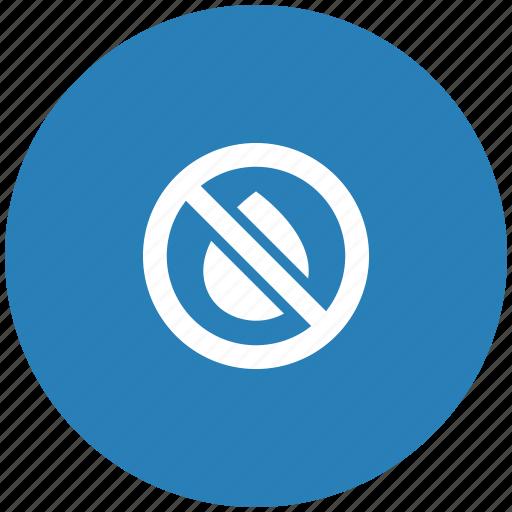 blue, cartridge, empty, ink, printer, round, stop icon