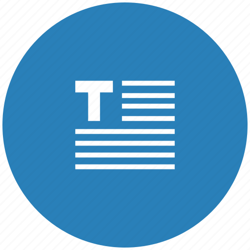 blue, edit, editor, format, round, text icon
