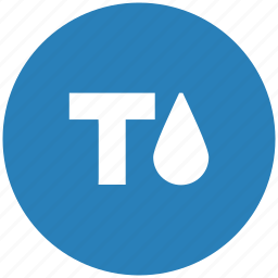 blue, fill, format, ink, round, text icon