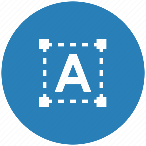 blue, figure, grid, letter, round, text, transform icon