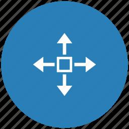 blue, cursor, round, turn, window icon