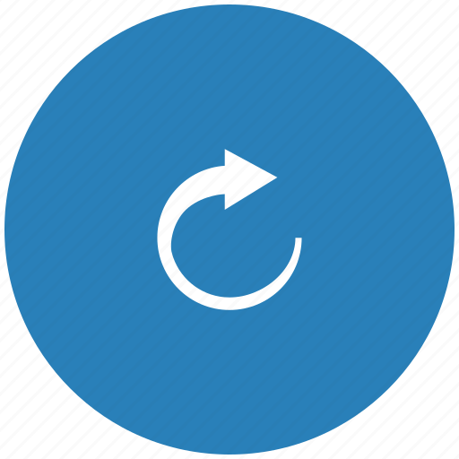 blue, cursor, loading, object, rotate, round, turn icon