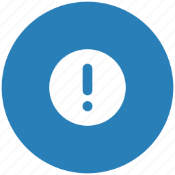 attention, blue, message, printer, round, warning icon