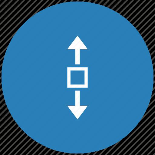 blue, round, scroll, vertical, window icon