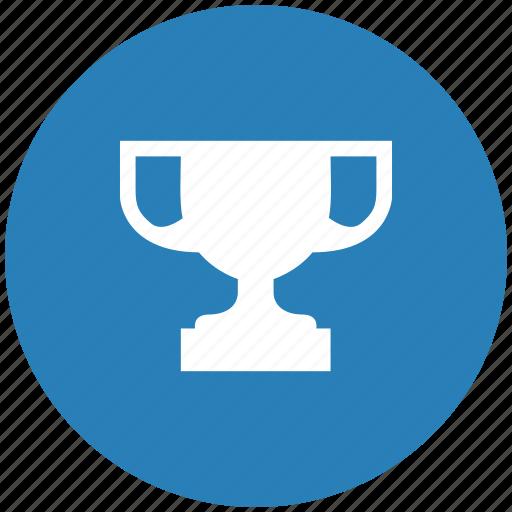 blue, champion, cup, round, winner icon