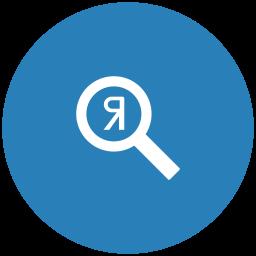 blue, optimization, round, scan, search, seo, yandex icon