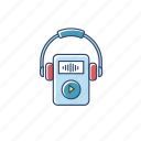 device, digital, gadget, mp3, music, player, portable icon