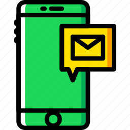 communication, function, mail, mobile, receive icon