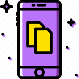 communication, files, function, mobile icon